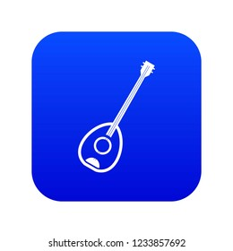Saz turkish music instrument icon digital blue for any design isolated on white vector illustration
