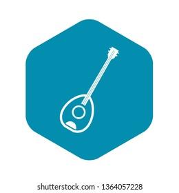 Saz turkish music instrument icon. Simple illustration of saz turkish music instrument vector icon for web