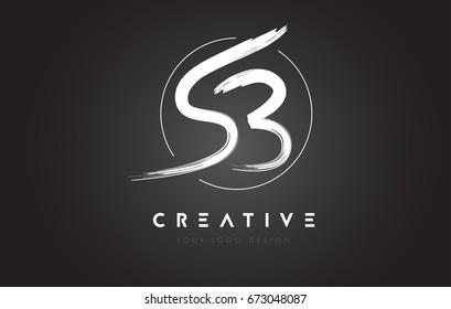 SB Brush Letter Logo Design. Artistic Handwritten Brush Letters Logo Concept Vector.