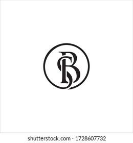 SB or BS letter logo design vector.
