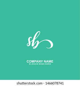 SB Initial handwriting logo vector