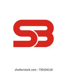 SB initial letter logo design template vector