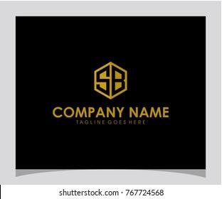 SB initial letter logo design
