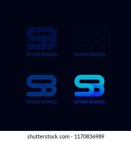 SB Initial Vector Monogram Gradient Logo