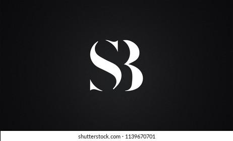 SB Letter Logo Design Template Vector