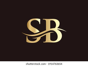 SB Linked Logo for business and company identity. Creative Letter SB Logo Vector with modern trendy