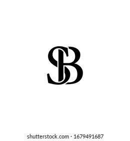 SB Logo design vector. Illustration of initial SB Letter logotype