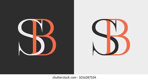 SB logo, monogram, vector