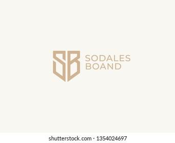 SB. Monogram of Two letters S&B . Luxury, simple, minimal and elegant SB logo design. Vector illustration template.