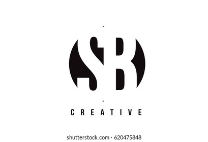 SB S B White Letter Logo Design with Circle Background Vector Illustration Template.