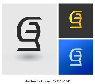 SB SE initial based Logo Design in Gradient Colors. Creative Modern company logo. Vector Icon Logo idea Illustration.