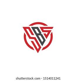 SBS initial cool modern logo