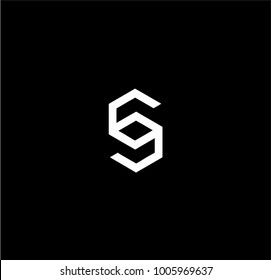 SC or CC initials letter logo