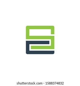 SC or CS letter logo design vector template.