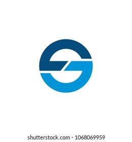 sc initial logo design, geometric logo