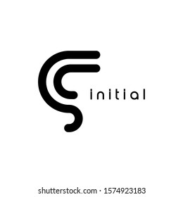 SC initial logo.Vector in a line design.