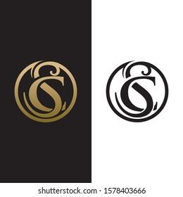 SC initial luxury logo design vector