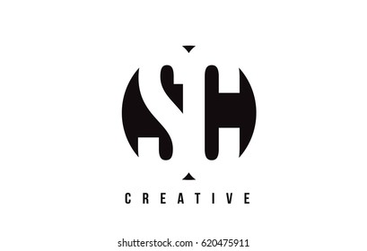 SC S C White Letter Logo Design with Circle Background Vector Illustration Template.