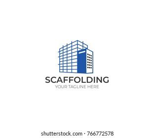 Scaffolding Logo Template. Construction Vector Design. Scaffold Illustration