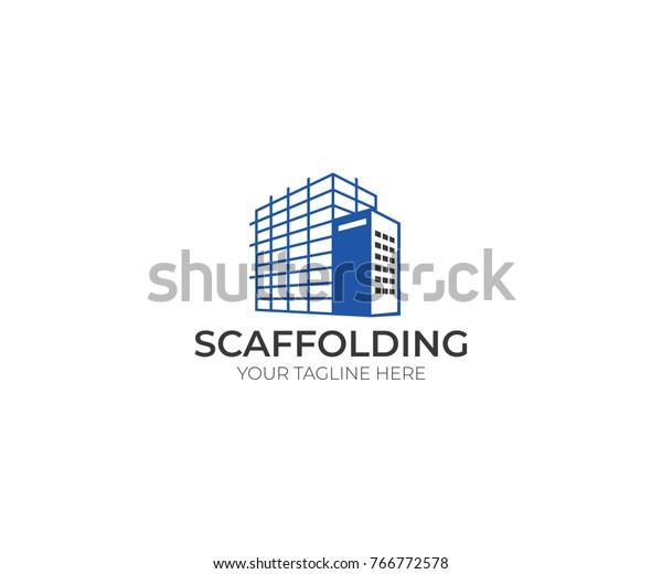 Scaffolding Logo Template Construction Vector Design Stock