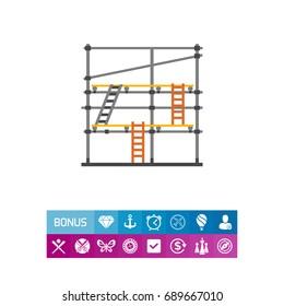 Scaffolding vector icon