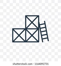 Scaffolding vector icon isolated on transparent background, Scaffolding logo concept