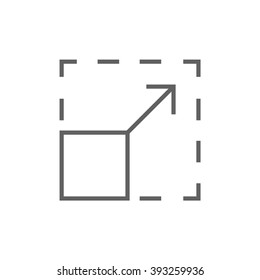 Scalability line icon.