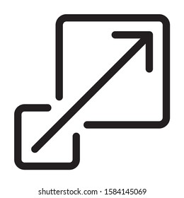 Scalability or scalable system line art vector icon for apps and websites