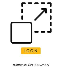 Scalability vector icon