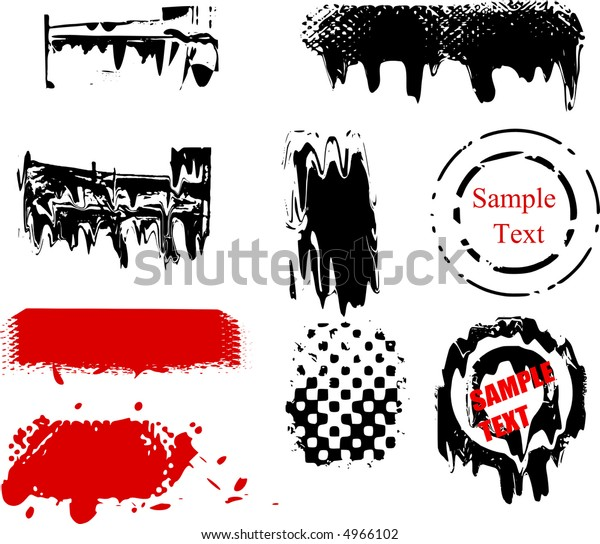 Scalable grunge brushes and design elements