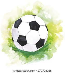 A scalable vector drawing of a football (soccer) ball