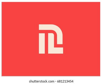 Scalable vector icon, containing hidden connected letters I, L, P, n, D, J, m, R. Isolated logo, for screen (web, mobile app, video, etc.) and print (corporate identity, advertising, etc.)