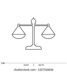 scale balance icon vector logo template