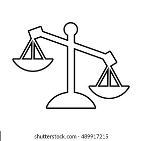 scale balance justice icon vector illustration design