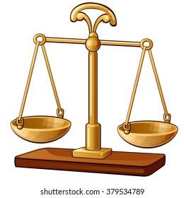 Scale balances. Vector illustration.