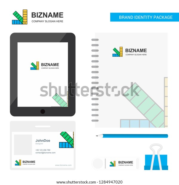 Scale Business Logo Tab App Diary Stock Vector (Royalty Free