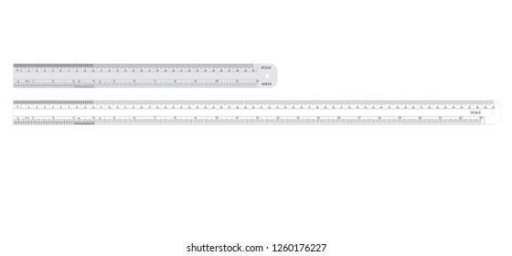SCALE DESIGN SIZE OF 30 CM, 60 CM, 12 INCH, 23 INCH IN VECTOR FORMAT