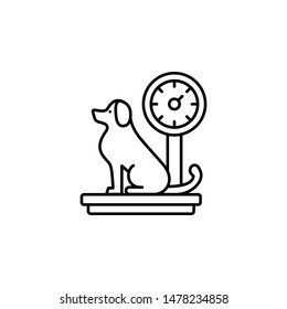scale, dog icon. Simple thin line, outline vector of Petshop icons for UI and UX, website or mobile application