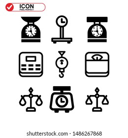 scale icon isolated sign symbol vector illustration - Collection of high quality black style vector icons