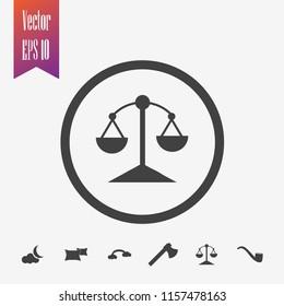 scale icon vector. balance icon.  justice icon