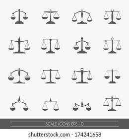 Scale icons set, vector.