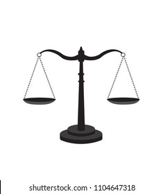 Scale of justice icon, vector