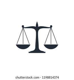 Scale of Justice - Law Firm Icon Logo Template