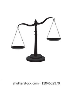 Scale of justice, vector