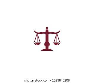 Scale logo law vector icon