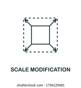 Scale Modification icon from 3d printing collection. Simple line Scale Modification icon for templates, web design and infographics