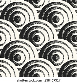 Scale motif with noisy details. Seamless pattern. Vector.