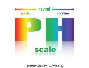 scale of ph value for acid and alkaline solutions , transparent background