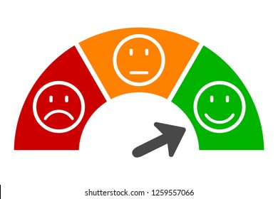 Scale speed, valuation by emoticons - for stock vector