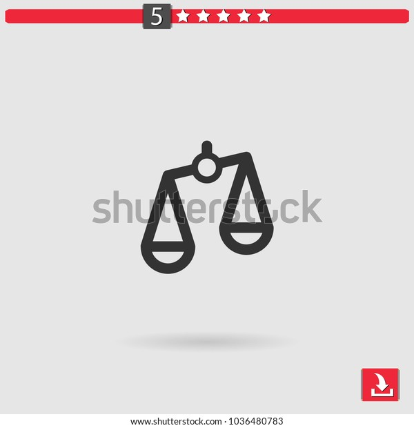 Scale Vector Icon Stock Vector (Royalty Free) 1036480783